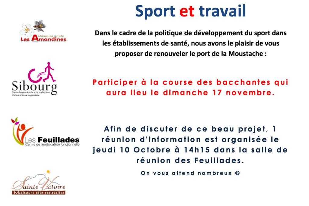 sport et travail à la maison de retraite sainte victoire à Aix en Provence